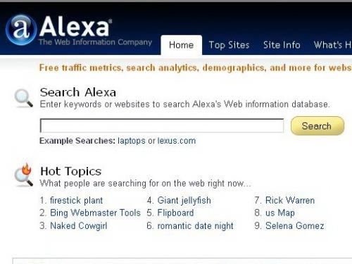 Halaman Depan Alexa.com