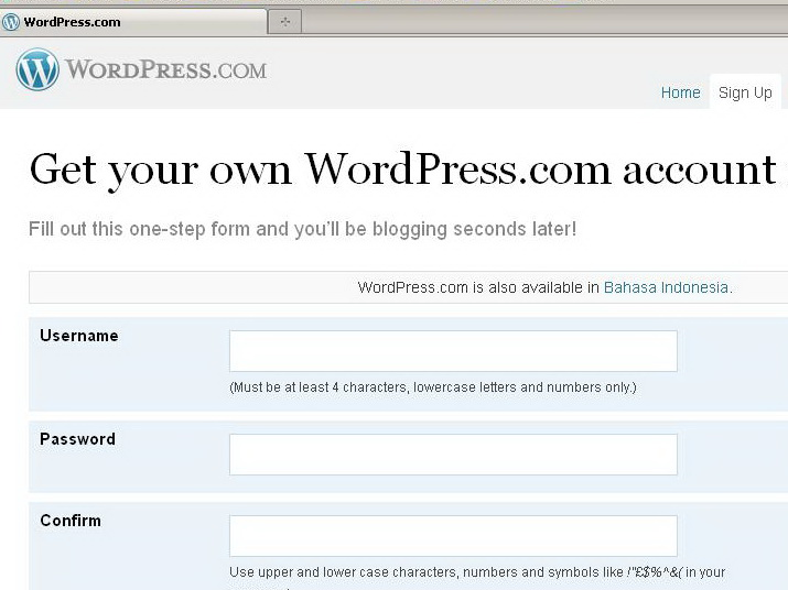 02.form pendaftaran wordpress
