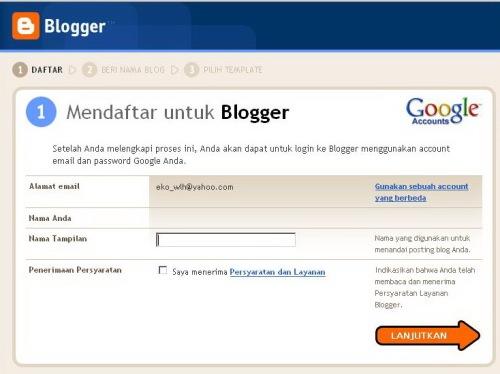Registrasi Blog Baru