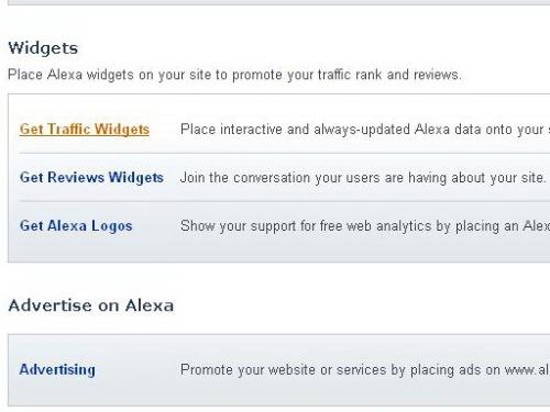 Menu Get Widget Alexa