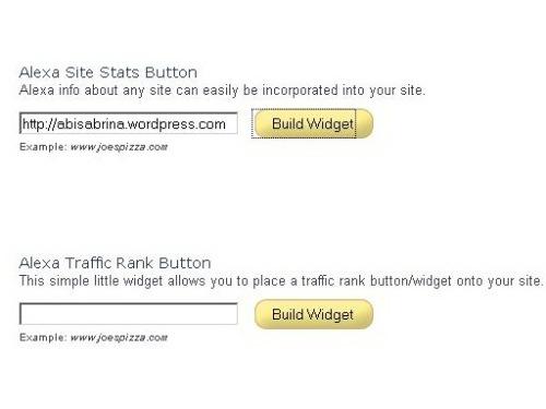 Buat Widget Untuk Situs Kita