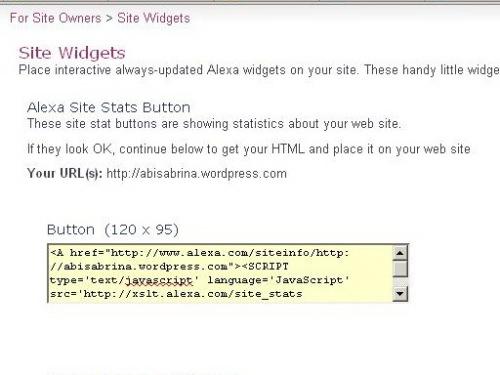 Java Script Widget dari Alexa