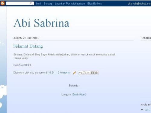 Tampilan Blog Jadi