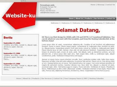 Tampilan Website Jadi