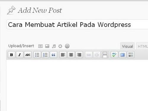 Membuat Artikel Baru Pada WordPress