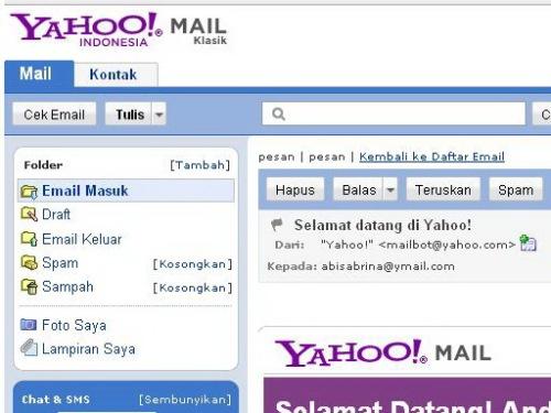 Mengelola Email di Yahoo