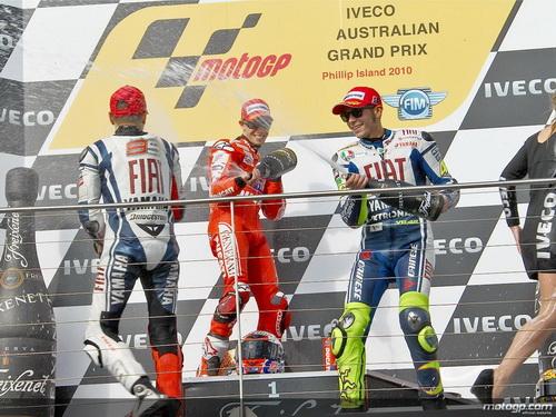 Podium MotoGP Australia 2010