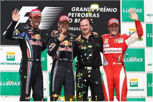Podium F1 Brasil 2010