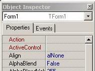 Delphi 7 - Object Inspector