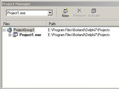 Delphi 7 - Project Manager