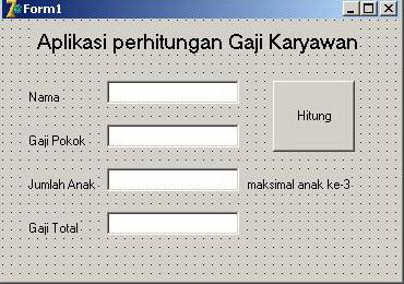 Form Aplikasi Perhitungan Gaji
