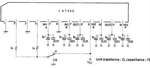 Skema IC LA7222