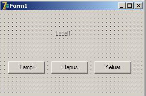 Tata letak komponen pada Form