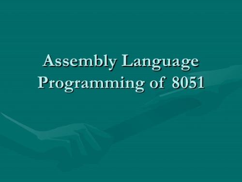 Bahasa assembler untuk pemrograman MCS51