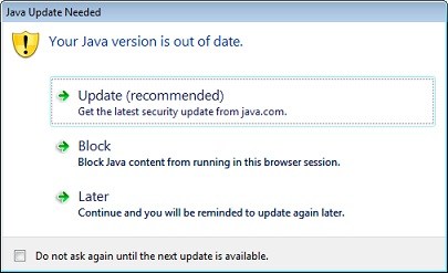 java insecure pada windows 7