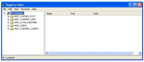 tampilan-registry-editor