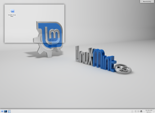 Tampilan Desktop Linux Mint 15 KDE 32bit