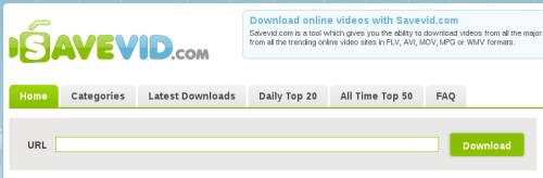 Tampilan Savevid.com